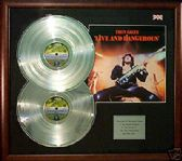 THIN LIZZY- Dble LP Platinum Discs and LP cover - LIVE